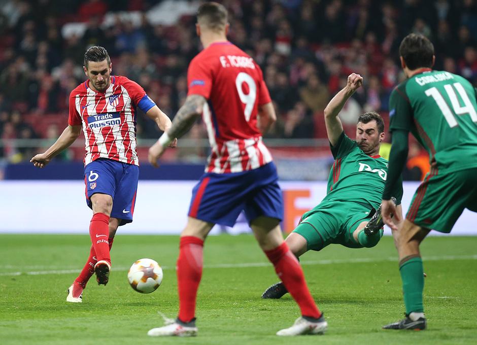 Temp. 17/18 | Ida de octavos | 08/03/18 | Atlético de Madrid - Lokomotiv | Koke