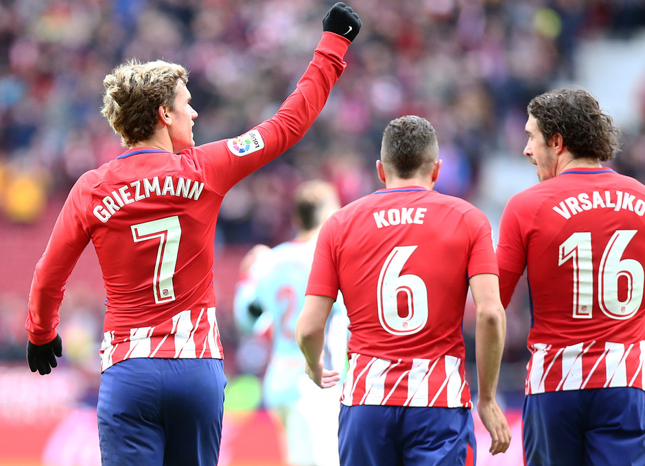 Temp. 17/18 | Jornada 28 | 11/03/18 | Atlético de Madrid - Celta | Celebración primer gol Griezmann