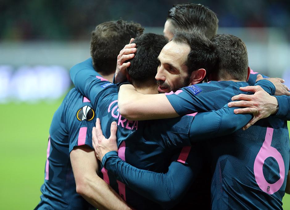Temp. 17/18 | Vuelta de octavos | 15/03/18 | Lokomotiv - Atlético de Madrid | Correa, celebración gol