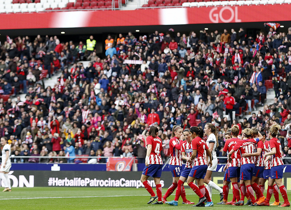 Temporada 17/18 | Estreno del femenino en el Wanda Metropolitano | 17/03/2018 | Atleti - Madrid CFF | Marta Corredera gol