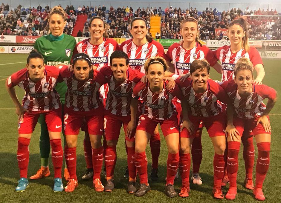 Temp. 17/18 | Atlético de Madrid Femenino | 24-03-18 | Jornada 24 | Once