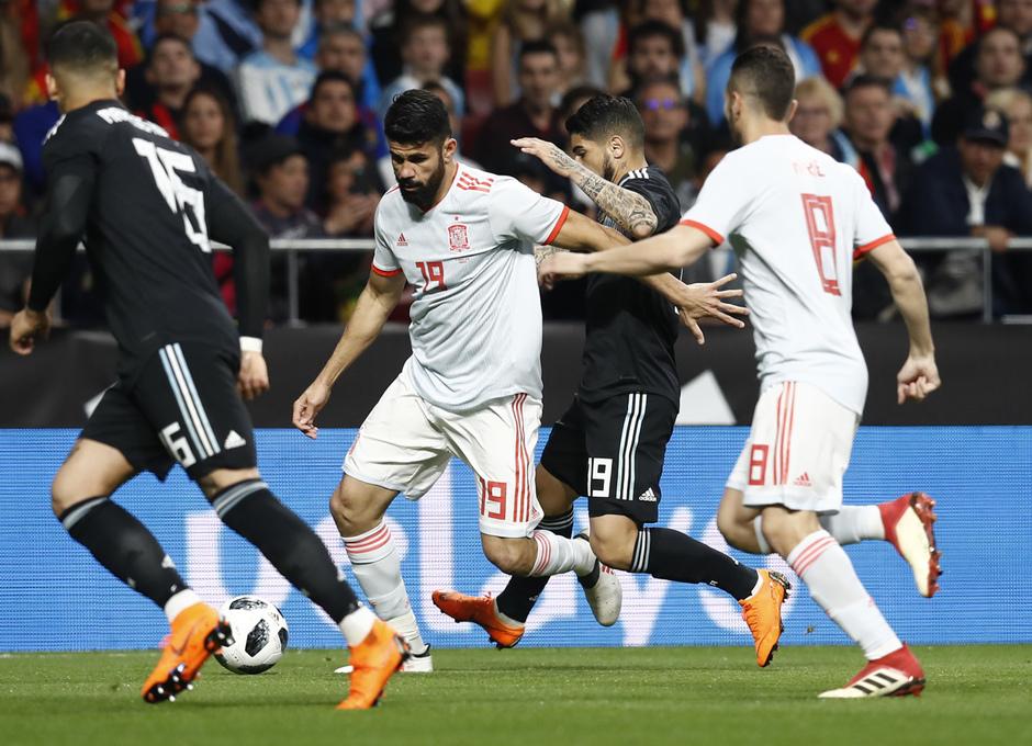 Diego Costa abrió el marcador de España y fue el primer goleador de la selección en el Wanda Metropolitano