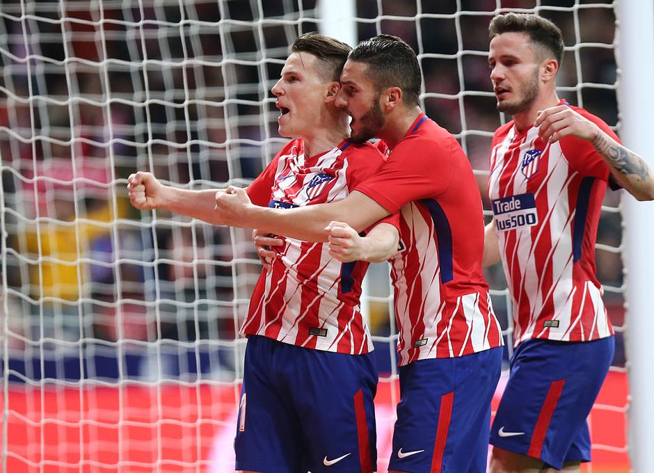 Temp. 17/18 | Atlético de Madrid - Deportivo de La Coruña | 01-04-18 | Jornada 30 | Celebración gol de Gameiro