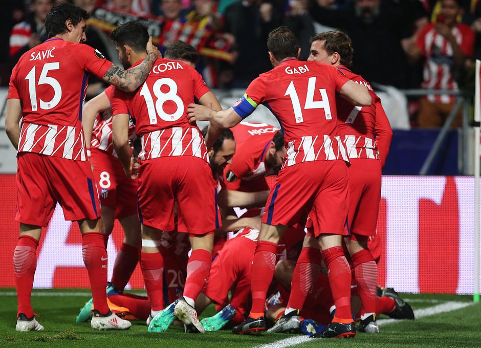 Temp. 17-18 | Atlético de Madrid - Sporting de Portugal | 05-04-2018 | Celebración gol Koke