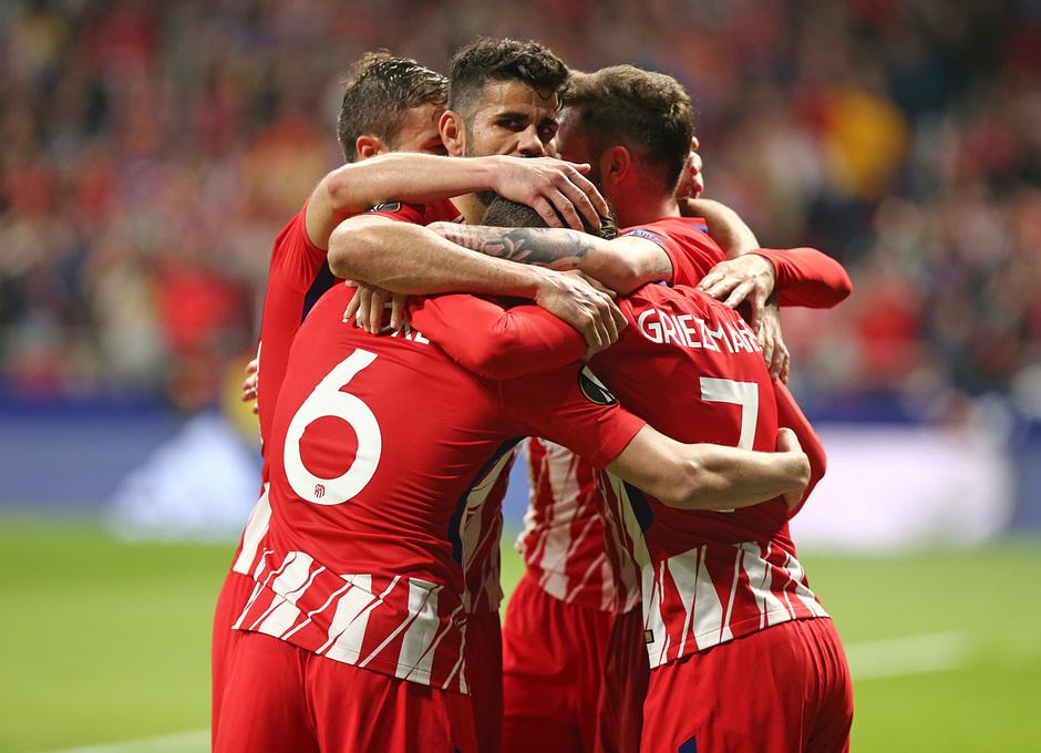 Temp. 17-18 | Atlético de Madrid - Sporting de Portugal | 05-04-2018 | Griezmann celebración