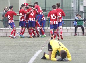 Temp. 17-18   Almendralejo - Atlético de Madrid Juvenil A. Celebración