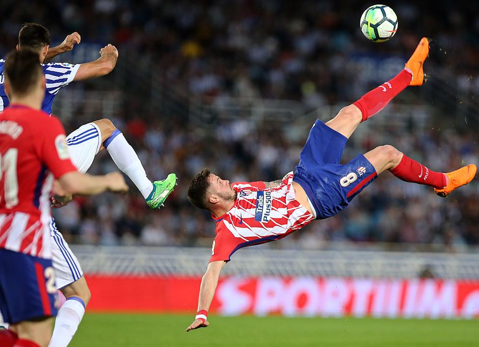 Temp 17/18 | Real Sociedad - Atlético de Madrid | Jornada 33 | 19-04-18 | Saúl