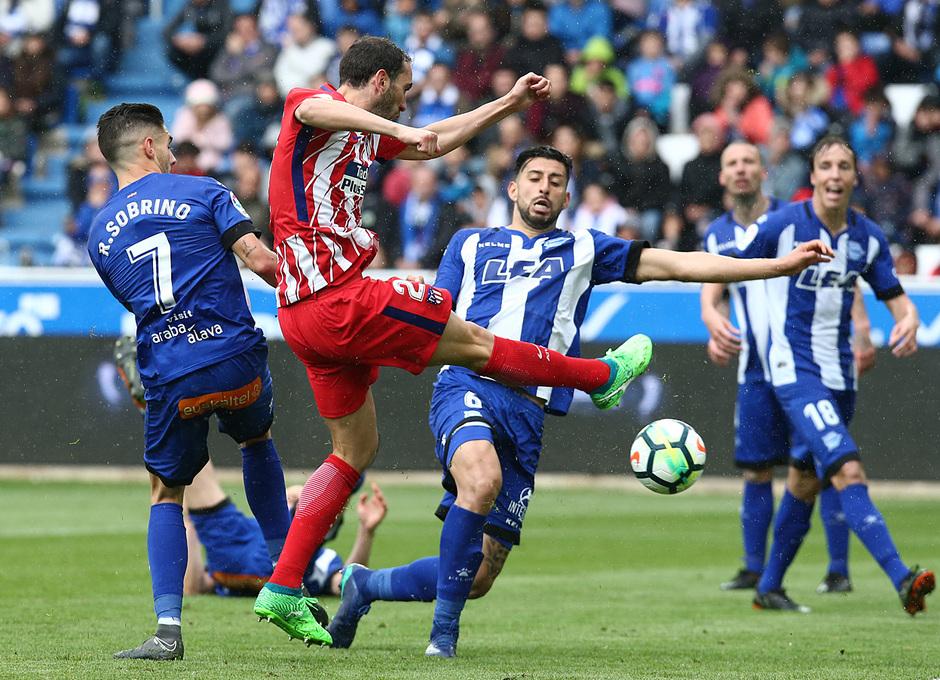 Temp 17/18 | Alavés - Atlético de Madrid | Jornada 35 | Godín