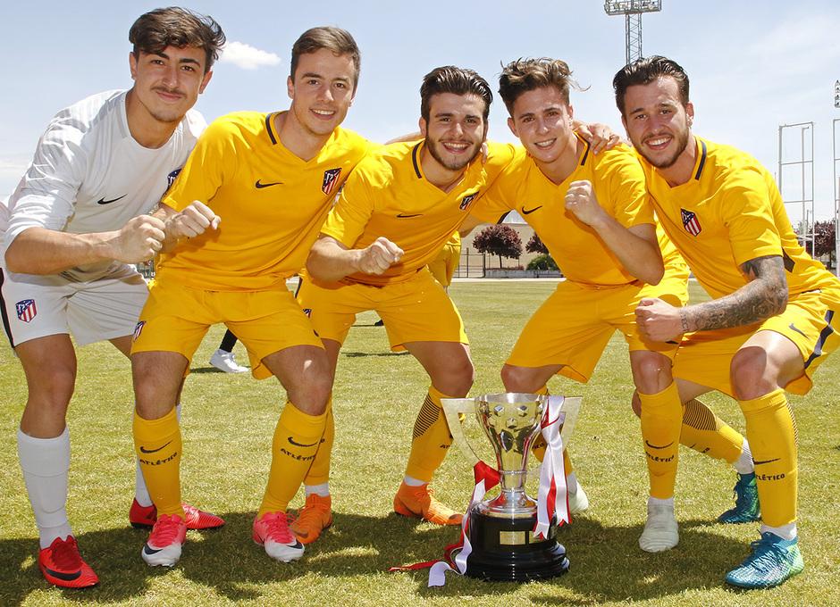 Temp. 17-18 | Copa de Campeones | Sporting de Gijón-Atlético de Madrid Juvenil A | Celebración