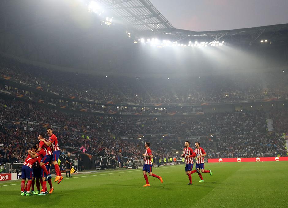 Temporada 17/18 | Final de Lyon de la Europa League | Olympique de Marsella - Atlético de Madrid | Celebración