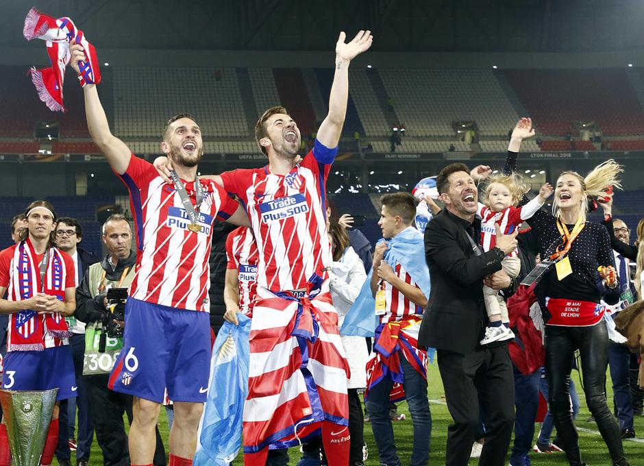 Temporada 17/18   Final de Lyon de la Europa League   Olympique de Marsella - Atlético de Madrid   Simeone