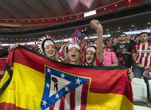 Temporada 17/18 | Final de Lyon de la Europa League en el Wanda Metropolitano | Afición