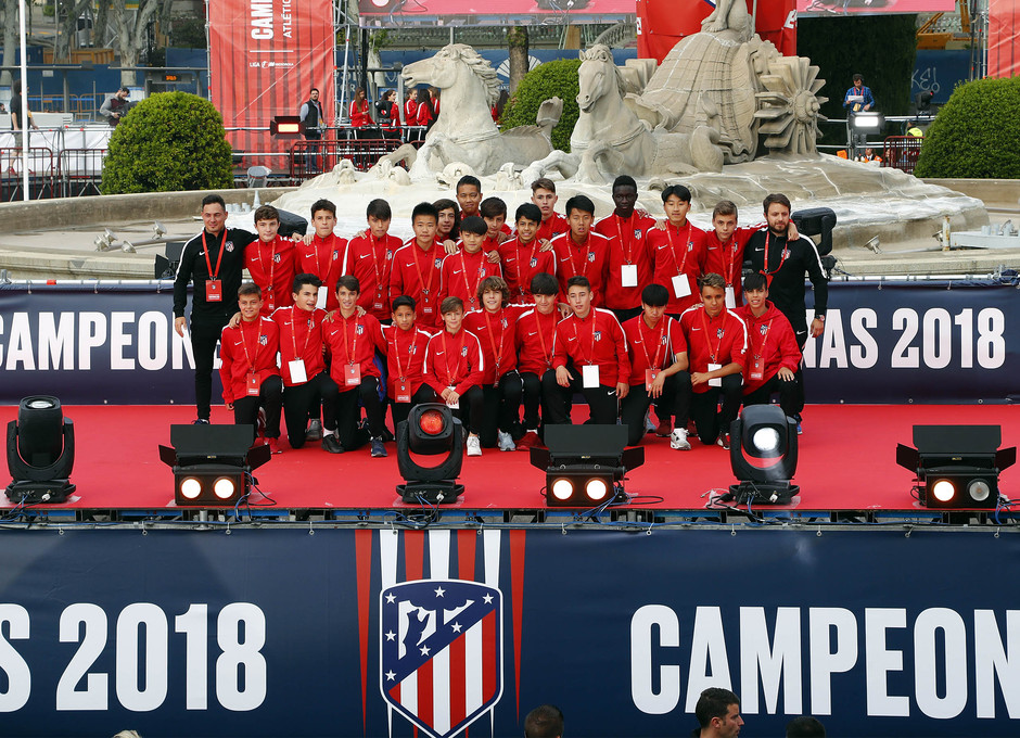 Temp 17/18 | Atlético de Madrid y Atlético de Madrid Femenino | 18-05-18 | Academia | Infantil C