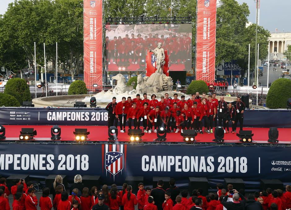 Temp 17/18 | Atlético de Madrid y Atlético de Madrid Femenino | 18-05-18 | Academia | Atlético Madrileño Juvenil A