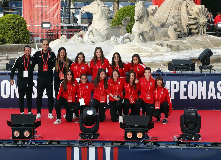 Temp 17/18 | Atlético de Madrid y Atlético de Madrid Femenino | 18-05-18 | Academia | Femenino Juvenil B