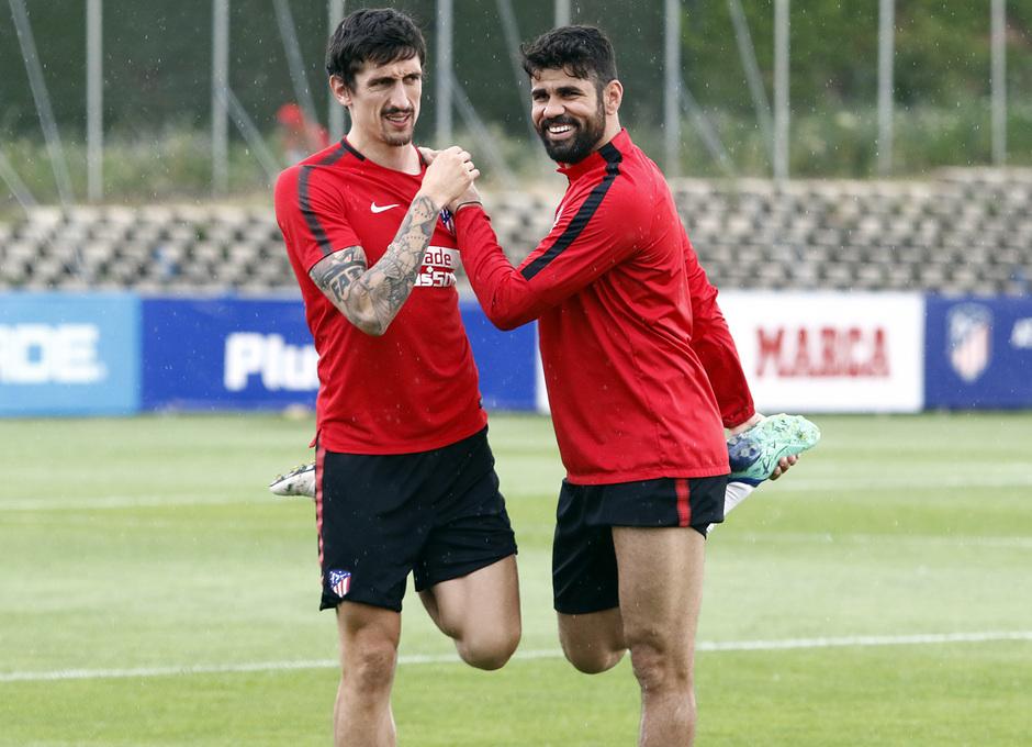 Temporada 17/18 | Entrenamiento del primer equipo | 19/05/2018 | Savic y Costa