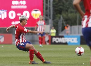 Temporada 17/18   Atlético de Madrid Femenino - Valencia   Ida de la Copa de la Reina   Sonia Bermúdez