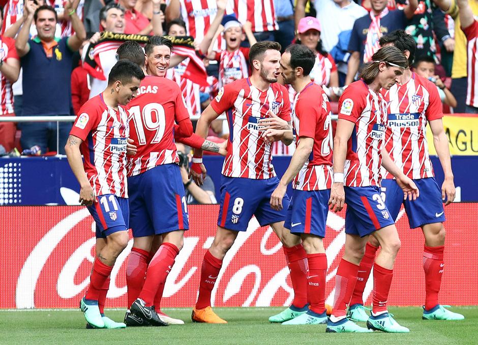 Temp. 17-18 | Atlético de Madrid-Eibar | Celebración piña