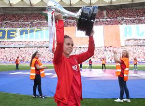 Temp. 17-18   Atlético de Madrid - Eibar   Amanda dedica el título de Liga Femenina a la afición