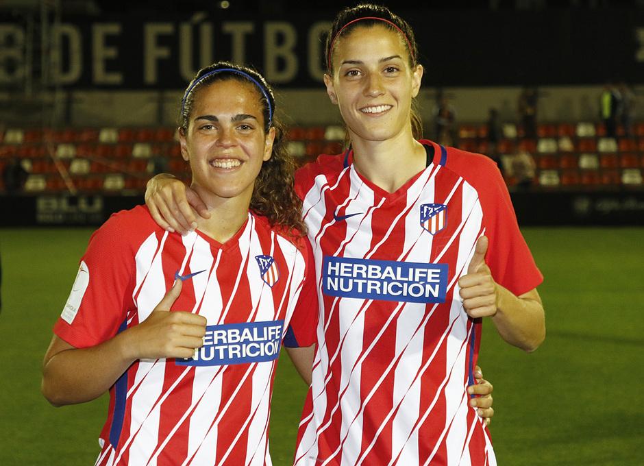 Temp 17/18   Valencia - Atlético de Madrid Femenino   Vuelta de cuartos de final de la Copa de la Reina   Falcón y Laura Fernández