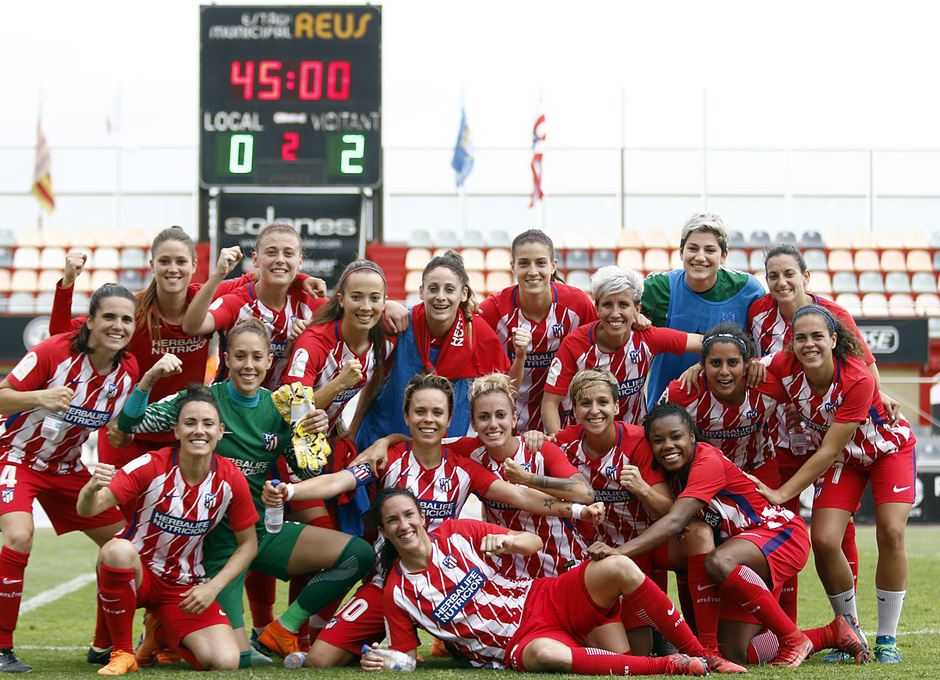 Temp. 17-18 | UD Granadilla Tenerife - Atlético de Madrid Femenino | Semifinal de la Copa de la Reina | Foto de equipo