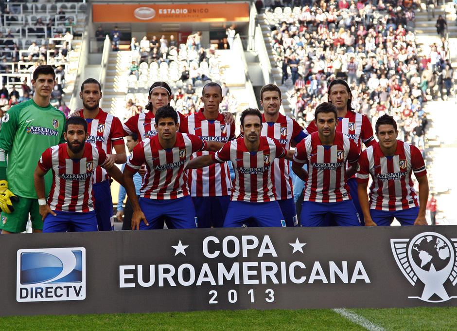 Once del Atlético ante Estudiantes