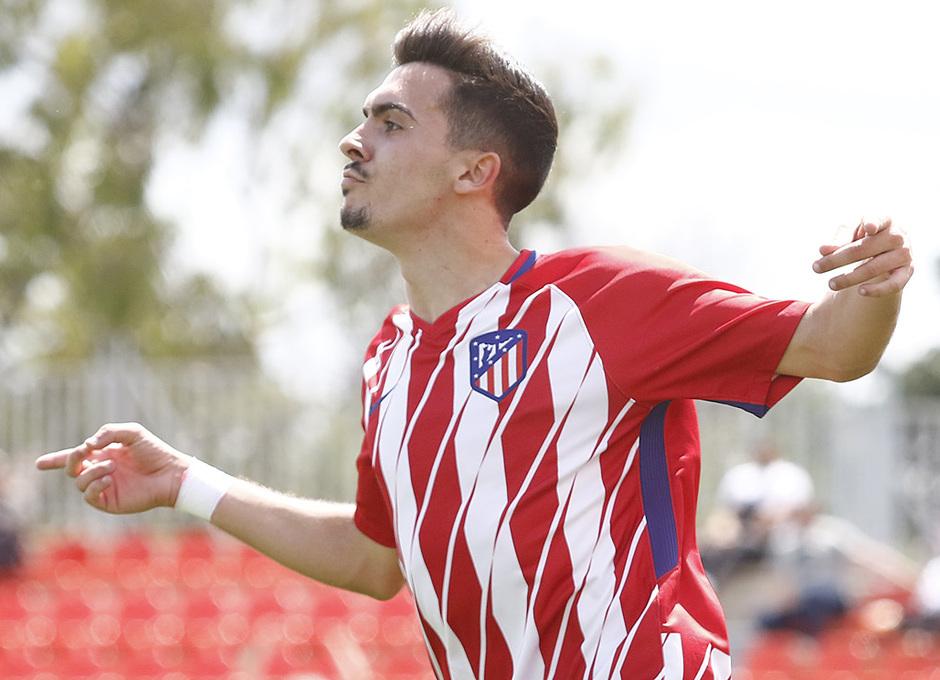 Temporada 17/18 | Copa del Rey Juvenil, semifinal | Atlético - Athletic | Celebraciçon Joaquín Muñoz