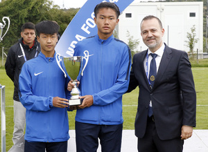 Wanda Football Cup   Entrega de trofeos  