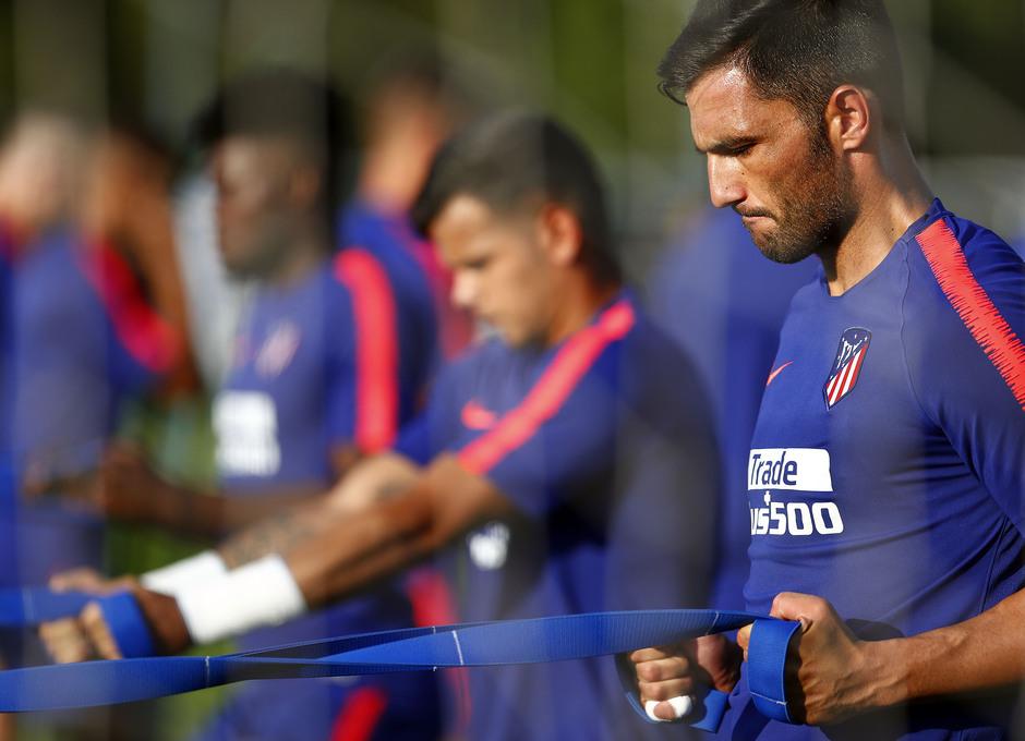 Temporada 18/19. Entrenamiento en la ciudad deportiva Wanda Atlético de Madrid. 13_07_2018. Adán