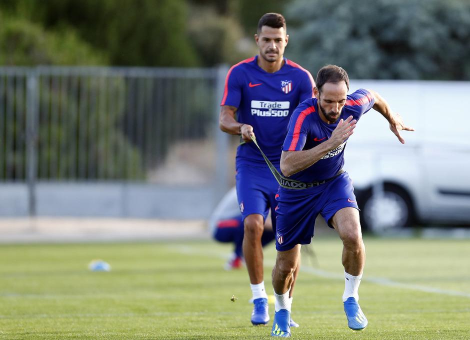 Temporada 18/19. Entrenamiento en la ciudad deportiva Wanda Atlético de Madrid. 21_07_2018. Juanfran.