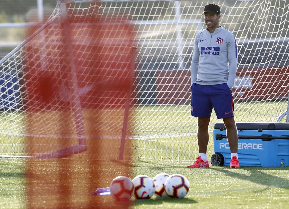 Temporada 18/19. Entrenamiento en la ciudad deportiva Wanda Atlético de Madrid. 21_07_2018. Simeone.