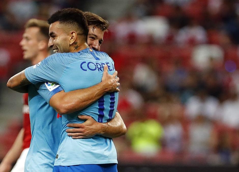 Temporada 2018-2019 | ICC Singapur  | Atlético de Madrid - Arsenal | Vietto y Correa Celebración