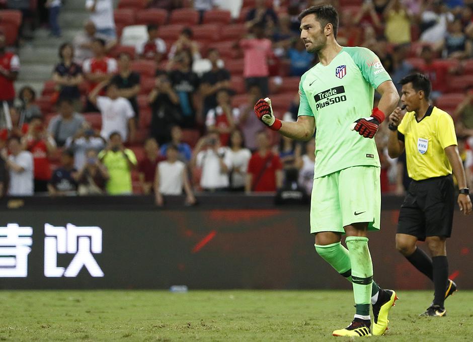 Temporada 2018-2019 | ICC Singapur | Atlético de Madrid - Arsenal | Adán