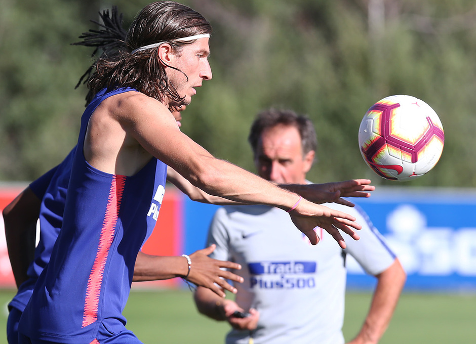 temporada 18/19. Entrenamiento en la ciudad deportiva Wanda. Filipe durante el entrenamiento