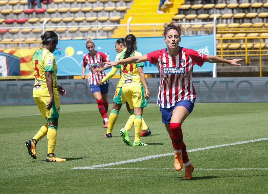 Temporada 18/19. Atlético de Madrid Femenino en Colombia en pretemporada frente al Atlético Huila. Esther González