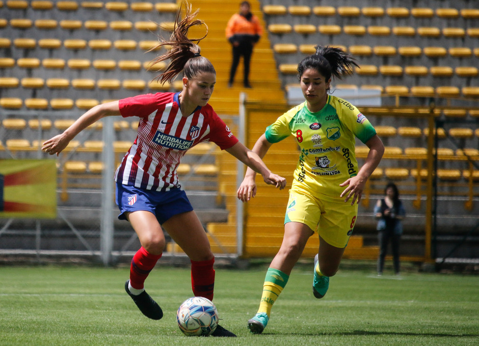 Temporada 18/19. Atlético de Madrid Femenino en Colombia en pretemporada frente al Atlético Huila. Viola Calligaris