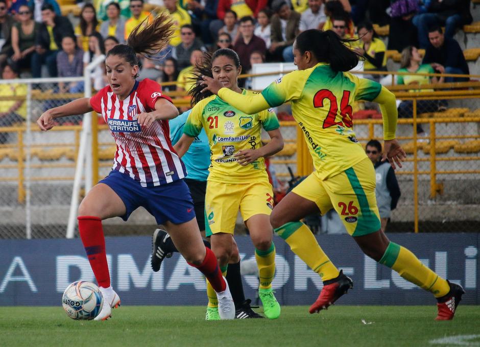 Temporada 18/19. Atlético de Madrid Femenino en Colombia en pretemporada frente al Atlético Huila. Olga García