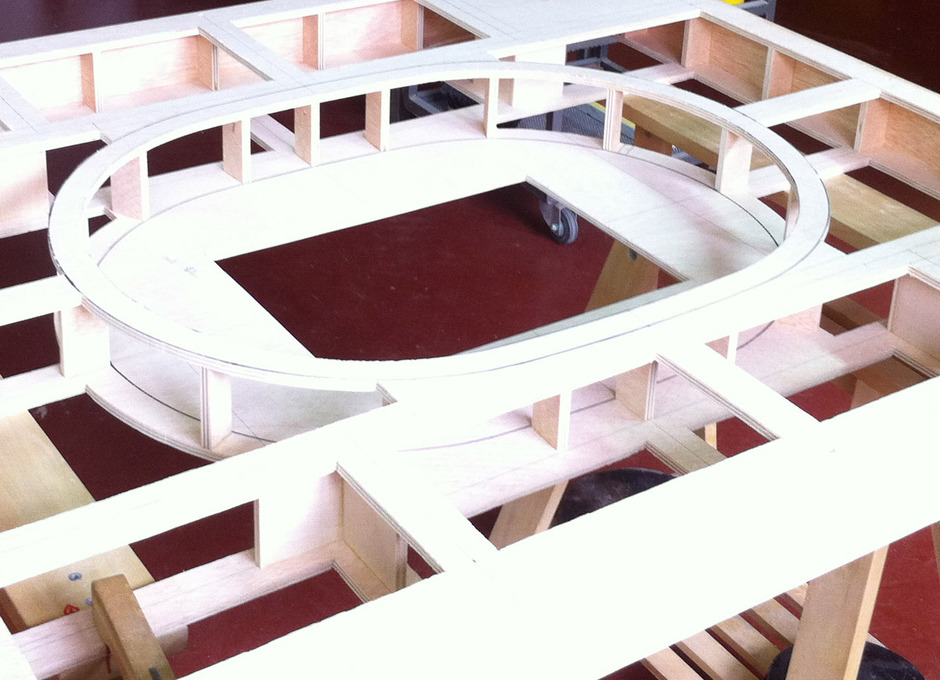 Maqueta del nuevo estadio del Atlético de Madrid