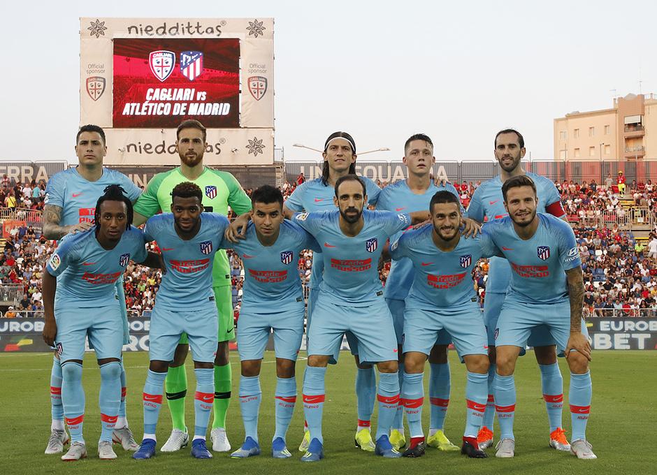 Temporada 2018-2019 | Cagliari-Atlético de Madrid | Once