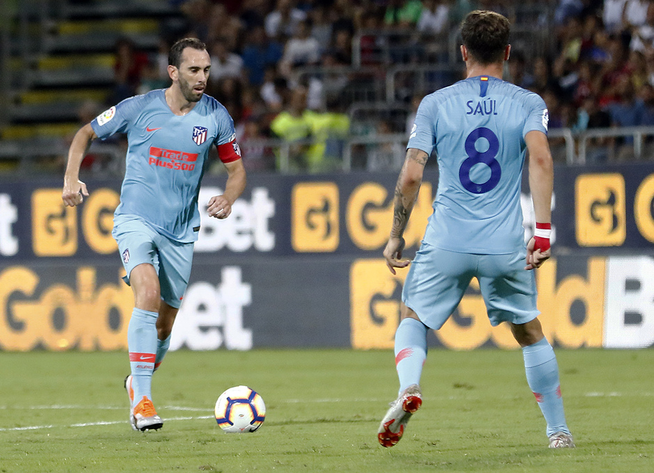Temporada 2018-2019   Cagliari-Atlético de Madrid   Godín, Saúl