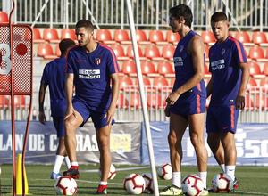 Temporada 2018-2019 | Entrenamiento Ciudad Deportiva Wanda | Savic, Montero y Koke