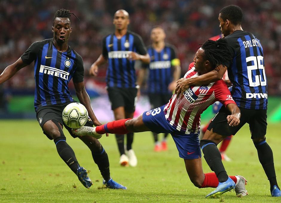 temporada 18/19. Partido Atlético de Madrid Inter de Milán. Internacional Champions Cup. Gelson durante el partido