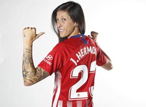Shooting | Sesión de fotos del Atlético de Madrid Femenino. Jennifer Hermoso