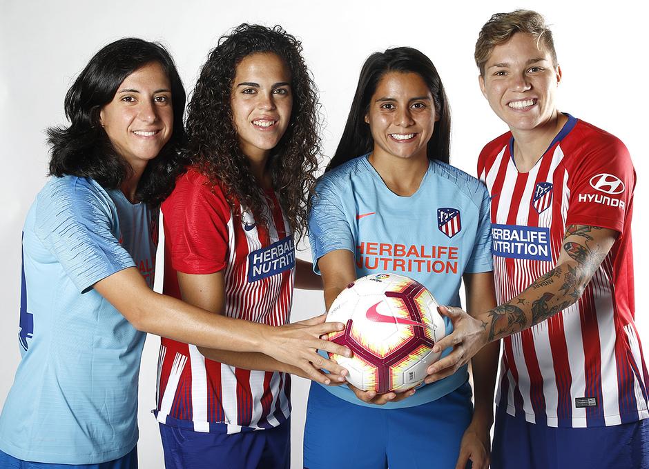 Shooting | Sesión de fotos del Atlético de Madrid Femenino. Dolores Silva, Andrea Falcón, Kenti Robles y Elena Linari