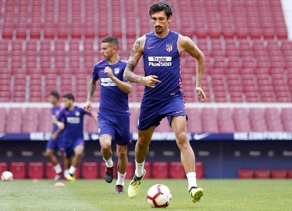 Temporada 18/19 | 24/08/2018 | Entrenamiento en el Wanda Metropolitano | Savic