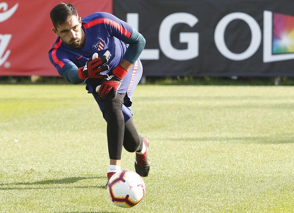 Temporada 18/19 | 04/09/2018 | Entrenamiento en el Wanda Metropolitano | Adán