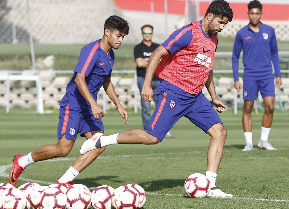 Temporada 18/19 | 04/09/2018 | Entrenamiento en el Wanda Metropolitano | Diego Costa