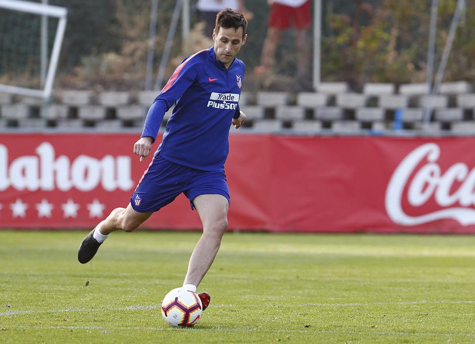 Temporada 18/19. Entrenamiento en la ciudad deportiva Wanda Atlético de Madrid. 06_09_2018. Kalinic.