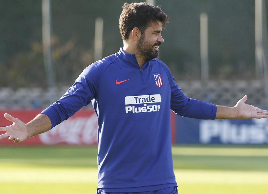 Temporada 18/19. Entrenamiento en la ciudad deportiva Wanda Atlético de Madrid. 07_09_2018. Diego Costa