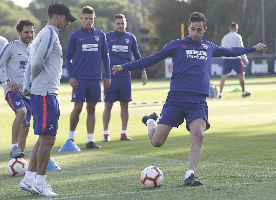 Temporada 18/19. Entrenamiento en la ciudad deportiva Wanda Atlético de Madrid. 07_09_2018. Kalinic